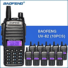 10PCS Baofeng UV-82 Walkie Talkie VHF UHF Portable Walkie Talkie 5W 2800mAh Handy Two Way CB Radio