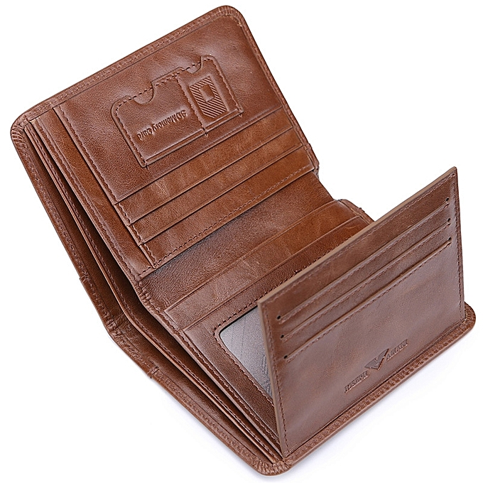 1241d5e4971e  Thick coffee Zhuo Fan Armani wallet men s short leather wallet suede leather  wallet youth