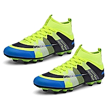 UL High Ankle Soccer Shoes Wear-resisting Sports For Football Trainers Fluorescent Green