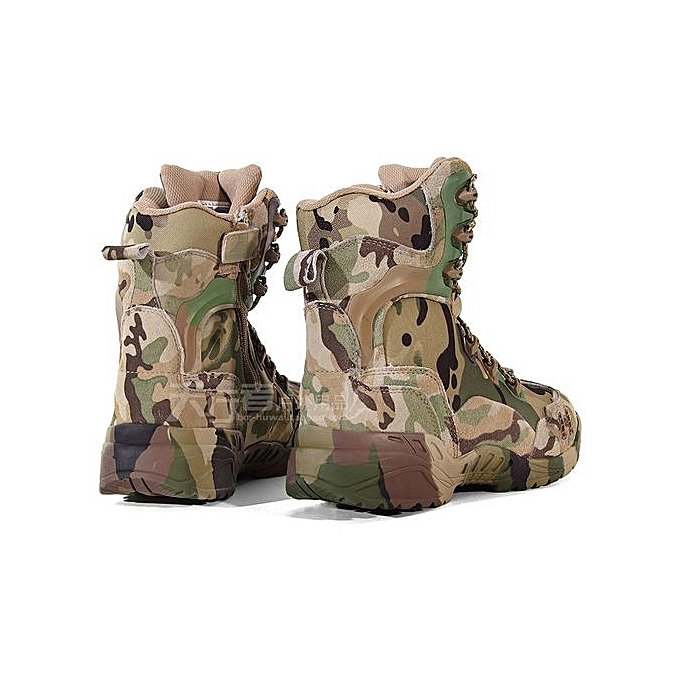3e1a5295a93 ... Men Ankle Boots Camouflage Shoes Military Tactical Combat Boots Desert  Boots ...