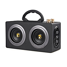 Stylish M8 Wireless Bluetooth Stereo High Power Car Dual Speaker Loudspeaker gold