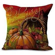 Happy Thanksgiving Day Throw Pillow Cases Cafe Sofa Cushion Cover Home Decor