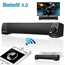 Sound Bar Bluetooth Wireless Speaker Home Theater Built-in Subwoofer AUX USB Black