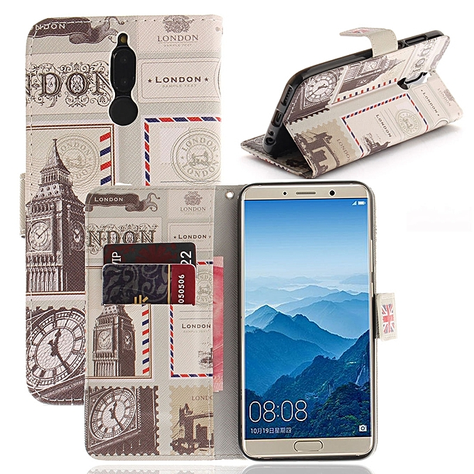 For Huawei Mate 10 UK Pattern Horizontal Flip Leather Case with Holder &  Card Slots & Wallet