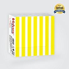 Moment Stripes Yellow Serviettes/Napkins - 1 Pack