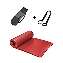 10mm Thick Durable Non Slip Yoga Mat With Carrying Bag and Strap