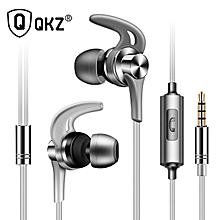 Headphones QKZ EQ1 Metal Earphones Half with Microphone Headset Earbuds for phone Xiaomi PRI-P