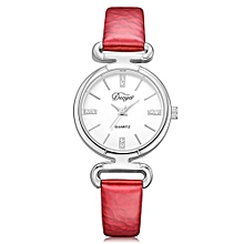 Technologg Watch   Fashion Women Casual Rounded Analog Pointer Quartz Wrist Watch -Red