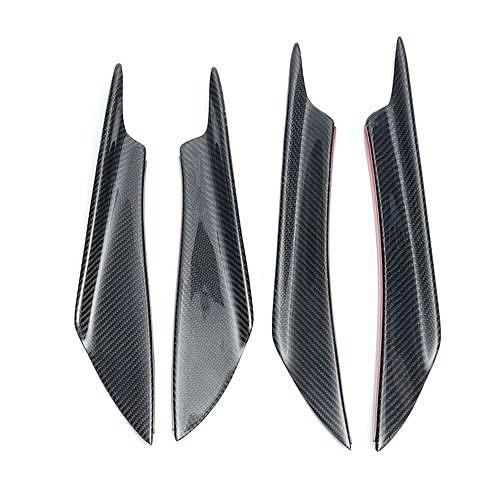 4 Pcs Universal Carbon Fiber Front Bumper Canards Splitters For Honda AUDI  VW BMW