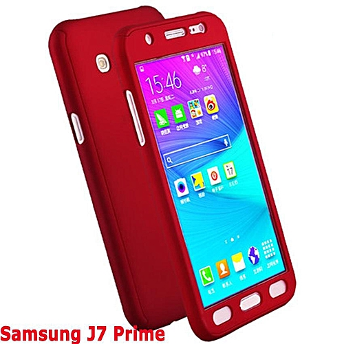 official photos 8fbdc a52f3 Phone Case For Samsung Galaxy J7 Prime 360 Degree Real Full Body Ultra-thin  Hard Slim PC Protective Case Cover With Tempered Glass 241058