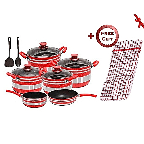 Non Stick Kitchen Set With Price: Buy Generic Non Stick Cooking Pots,Pans & Spoons,Cookware