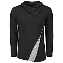 Inclined Zip Heaps Collar T-shirt
