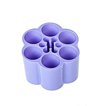 Plastic Cosmetic Storage Box Makeup Brushes Holder - Violet