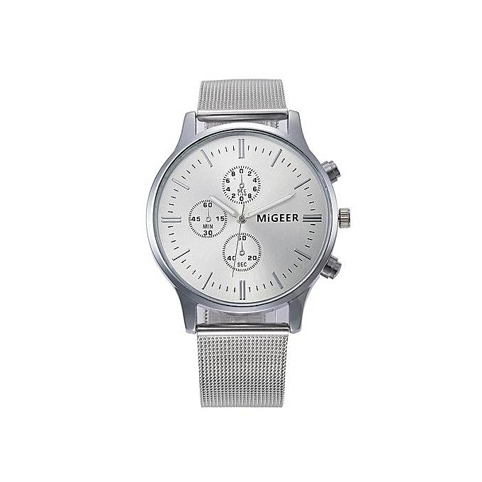 Henoesty Classic Women s Men s Wrist Watch Steel Strap Quartz Casual Watches 8e4b7338ac