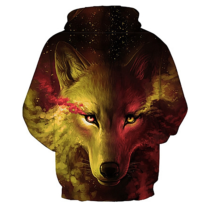 0810690a2808 ... jiahsyc store Unisex 3D Printed Wolf Pullover Long Sleeve Hooded  Sweatshirt Tops Blouse YE-Yellow ...