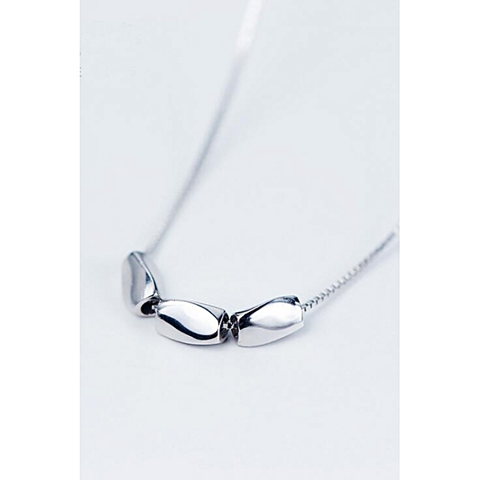 63399ca45bd8 925 sterling silver necklace female Korean cute little silver beans simple  wild ladies small fresh short
