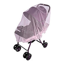 Baby Kids Stroller Pushchair Mosquito Insect Net Buggy Safe Protection Mesh Cover (Pink)