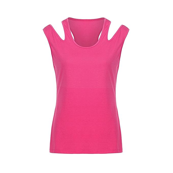 beb1f67d1b60a3 ... Hiamok Women Split Sling Tops Tank Casual T-Shirt Slim Vest Fashion  Solid Blouse ...