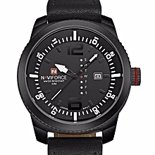 Luxury Day and Date Display Men Quartz Watch - Black