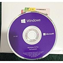 Windows 10 Professional - 64 Bit.