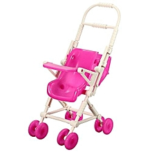 Assembly Baby Stroller Trolley Nursery Furniture Toy For Barbie Kelly Doll (Pink)