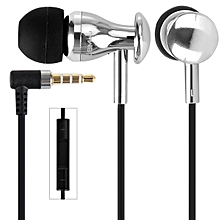 MJ9600 Professional In Ear Headset Perfect Fit Precise Sound Earphones With MIC And Burn-in Software CD(SILVER)