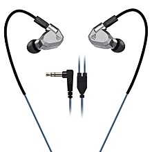 KZ ZS5 HiFi In-ear Removable Music Earphones - GRAY-WITHOUT MICROPHONE