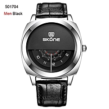 SKONE 5017 Hot!Casual SKONE Genuine Men & Women Brand Wristwatches Special design Military Leather Sports Watch Relogio Masculino WWD