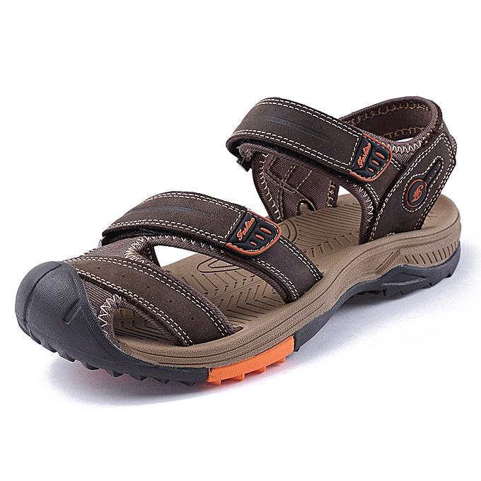 1c6d00f8b SocNoDn Men Fashion Casual Summer Beach Sandals Shoes Dark Brown ...