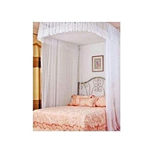Mosquito Net With 2 Stands with rails - 5x6- White