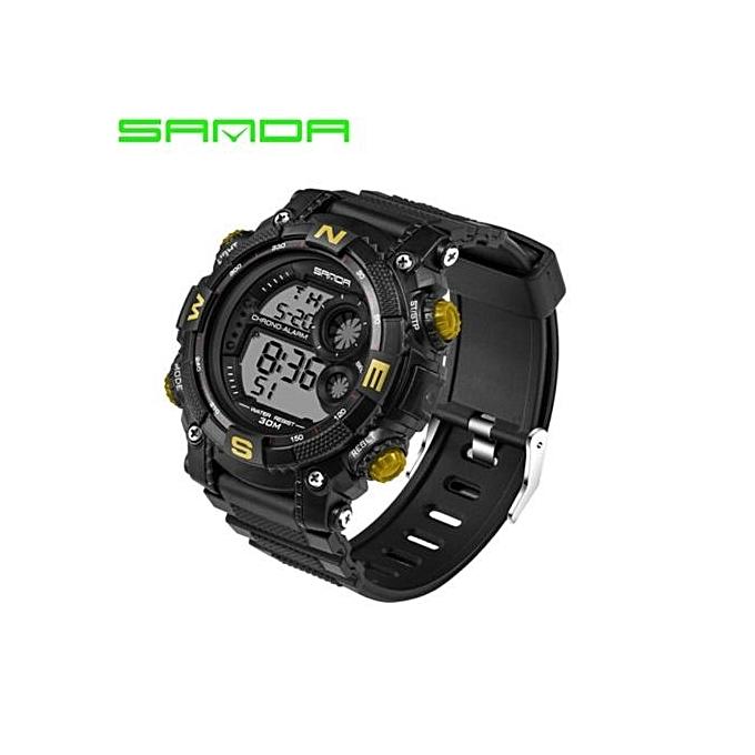 d7ef5854950 2017 New Luxury Brand Sanda Men s Watches LED Digital Watch Men Waterproof  Shock Resist Outdoor Sports