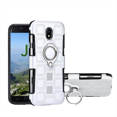 2 in 1 phone Case cover with Kickstand For Samsung Galaxy J7 2017 EURO / J7  Pro -Silver