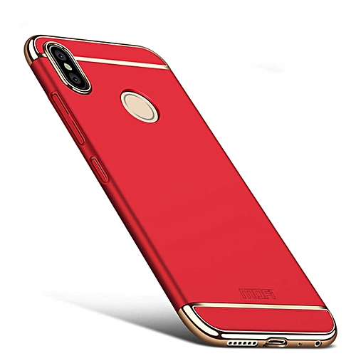 sports shoes f615b 1b57f MOFI for Xiaomi Redmi Note 5 Pro Three Stage Splicing Full-body Rugged PC  Protective Back Cover Case(Red)