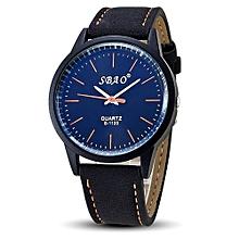 SBAO Fashionable Personality Trends Symphony Mirror High-grade Business Belt Watch- Orange