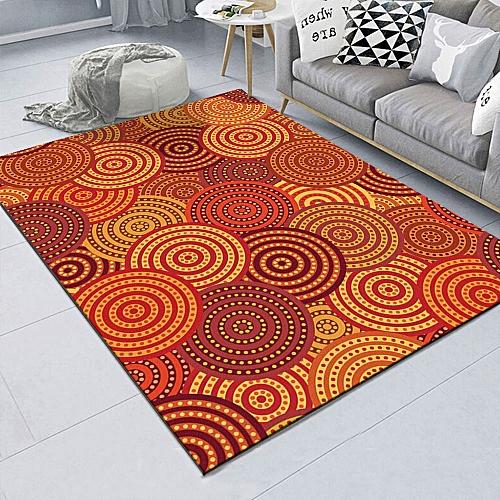 Generic Orange Round Bedroom Bedside Blanket Super Soft Carpet Machine Washable