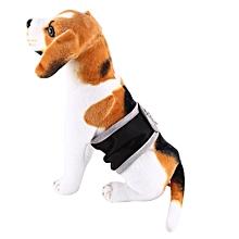 Dog Belly Wrap Diaper Doggy Pet Sanitary Underwear Pants(Black S)