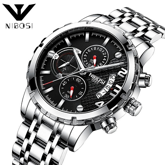 3a240b1a996 relogio masculino NIBOSI Luxury Brand Analog sports Wristwatch Display Date  Men s Quartz Watch Business Watch Men ...