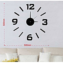 Decorative Wall clock- Black English Numbers
