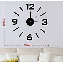 Decorative Wall clock- Black English Numbers