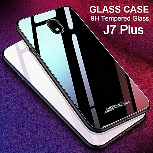 sports shoes ce87d bd9cb Glass Case For Galaxy J7 Plus Full Protection Tempered Glass Back Cover  Housing For Samsung Galaxy J7 Plus Casing Shell
