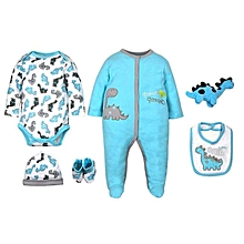 Tedmimak Baby 6 Piece Full Romper Set - Turquoise colour