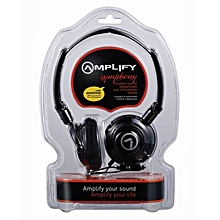 AM2005-BK - Symphony Headphones with Mic - Black