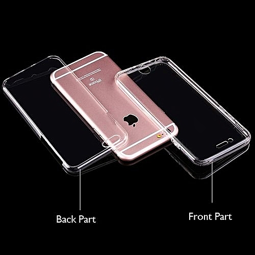 buy online 54489 7ea43 Best Selling Shockproof 360° TPU Silicone Full Protection Crystal Clear  Case Cover (Colour:Clear;for IPhone 4s)