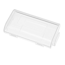 1Pc Transparent 18650 Battery Storage Box Case High-quality Container Durable Plastic Battery Holder with Lid Holds 2 18650 Batteries