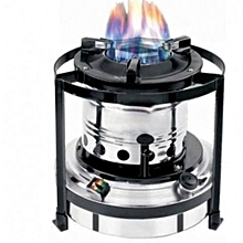 Portable Kerosene Stove - Silver and Black 2 Litres