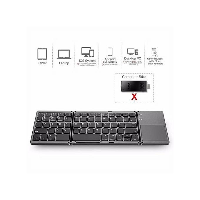 29f6e222733 ... Foldable Bluetooth Keyboard With Touchpad,Portable,Ultra Slim,Wireless  Keyboard-Black ...