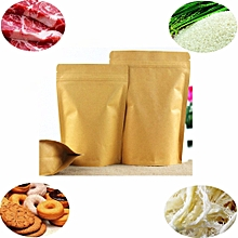 Sealable Ziplock Grip Seal Food Gift Paper Bag Stand Up Pouch 90*140mm WHOLESALE