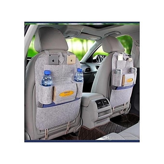 Car Seat Organizer Bags Light Grey