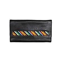 Black Slanty Pattern Martin's Purse With Beads
