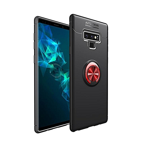 uk availability 2941f c96fd For Samsung Galaxy Note 9 Case Metal Ring Magnetic Bracket Back Cover for  Galaxy Note 9 Note9 Case Soft TPU Armor Coques